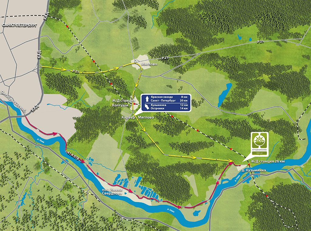 Схема проезда да леса